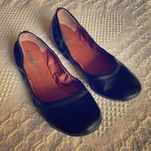 Lucky Brand Emmie Black Leather Ballet Flat
